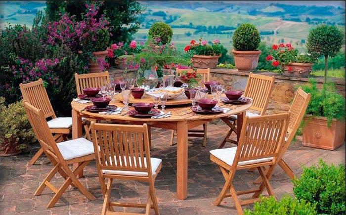Сделал садовую мебель
