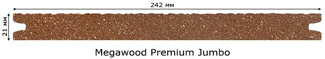 Сечение Megawood Premium Jumbo